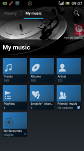 ScreenShot 168x300 Walkman Player dengan Beat Audio di Xperia Arc S ICS 4.0.4
