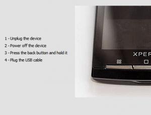 unplug usb 300x229 Cara Mudah Rooting Sony Ericsson Xperia Arc/Arc S  ICS 4.0.4   Lock Bootloader